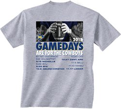 New World Graphics Men's McNeese State University Football Schedule T-Shirt