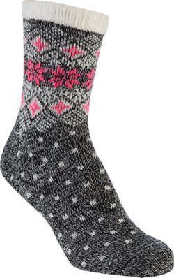 Women's Lodge Snowflake Cuff Crew Socks