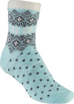 Magellan Outdoors Women's Lodge Snowflake Cuff Crew Socks