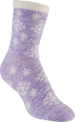 Women's Lodge Snowflake Pattern Crew Socks