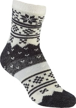 Women's Lodge Snowflake Ombre Crew Socks