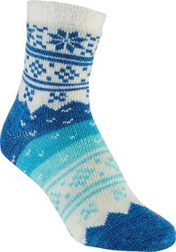 Magellan Outdoors Women's Lodge Snowflake Ombre Crew Socks