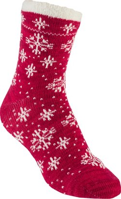 Magellan Outdoors Women's Lodge Snowflake Pattern Crew Socks