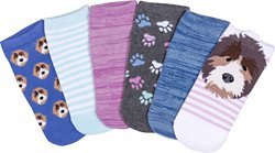 BCG Kids' Puppy No-Show Socks 6 Pack