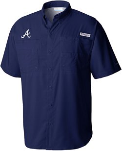 Columbia Sportswear Men's Atlanta Braves PFG Tamiami Button Down Shirt