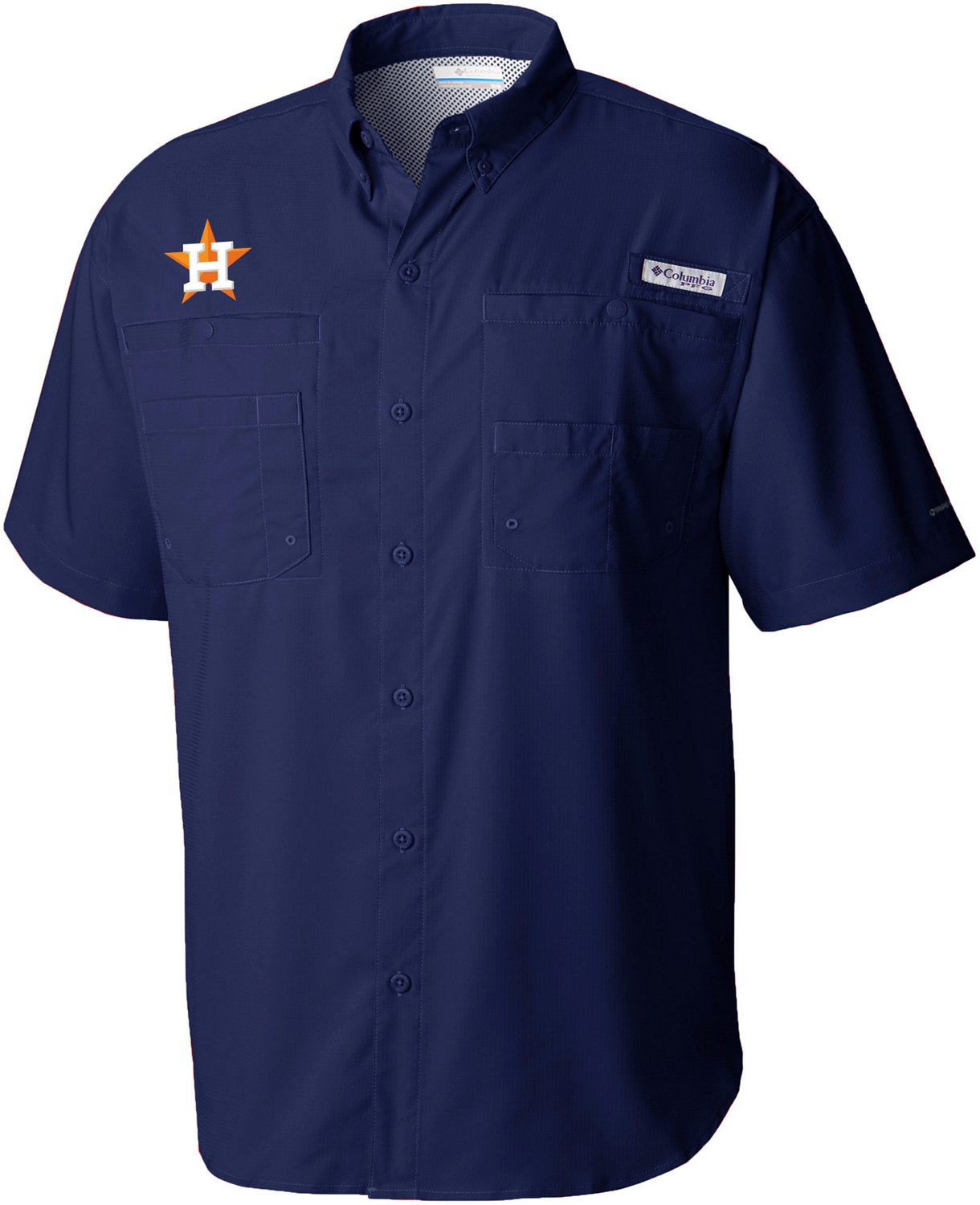 598654248035 Display product reviews for Columbia Sportswear Men's Houston Astros PFG  Tamiami Button Down Shirt
