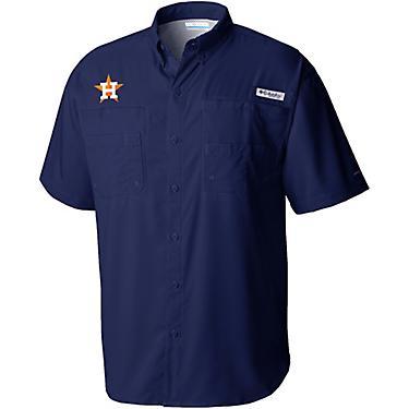 online store 43c62 8ab01 Columbia Sportswear Men's Houston Astros PFG Tamiami Button Down Shirt