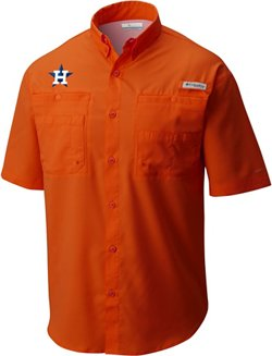Columbia Sportswear Men's Houston Astros PFG Tamiami Button Down Shirt