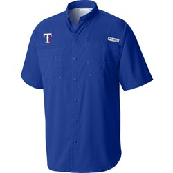 Men's Texas Rangers PFG Tamiami Button Down Shirt