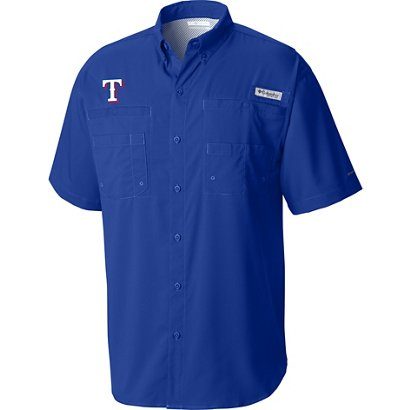 61ef3f2ab61 ... Columbia Sportswear Men's Texas Rangers PFG Tamiami Button Down Shirt.  Rangers Clothing. Hover/Click to enlarge