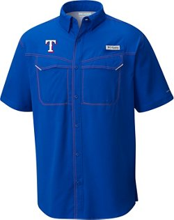 Men's Texas Rangers PFG Low Drag Button Down Shirt