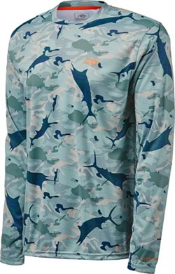 AFTCO Bluewater Men's Caster Fishing Performance Long Sleeve T-shirt