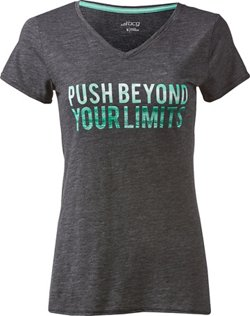BCG Women's Athletic Push Beyond Graphic V-neck T-shirt