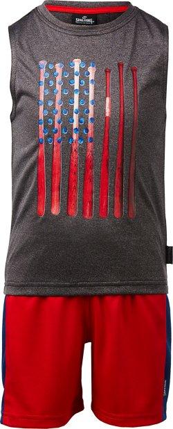 Spalding Toddler Boys' Baseball Americana Muscle Tank Top and Shorts Set