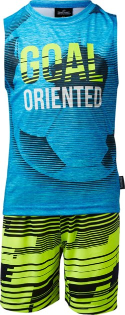 Spalding Toddler Boys' Goal Oriented Muscle Shirt and Shorts Set