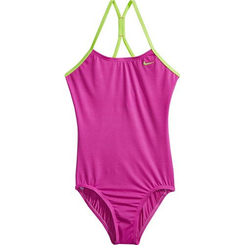 Nike Girls' Core Solids Racerback 1-Piece Swimsuit