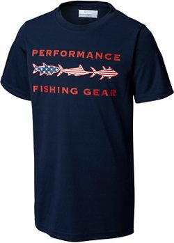 Columbia Sportswear Boys' PFG Freedom Fish T-shirt