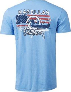 Magellan Outdoors Men's US Map Fisherman Graphic T-shirt