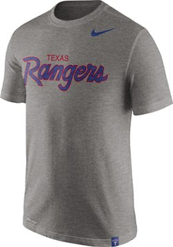 Nike Men's Texas Rangers Wordmark Script Slub T-shirt