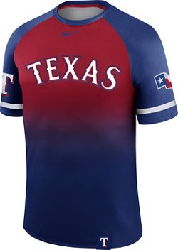 Nike Men's Texas Rangers Wordmark Legend Raglan Jersey