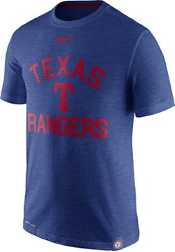 Nike Men's Texas Rangers Dri-FIT Slub Arch Logo T-shirt