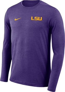 Nike Men's Louisiana State University Dry Coaches Long Sleeve T-shirt