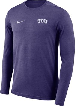 Nike Men's Texas Christian University Dry Coaches Long Sleeve T-shirt