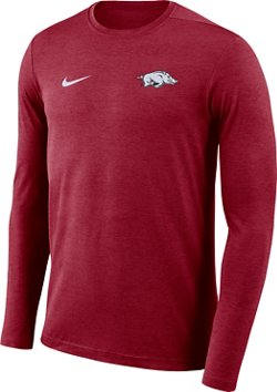 Nike Men's University of Arkansas Dry Coaches Long Sleeve T-shirt