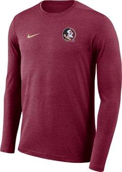 Nike Men's Florida State University Dry Coaches Long Sleeve T-shirt