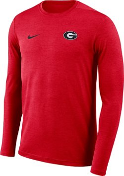 Nike Men's University of Georgia Dry Coaches Long Sleeve T-shirt