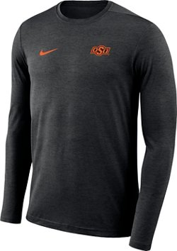 Nike Men's Oklahoma State University Dry Coaches Long Sleeve T-shirt