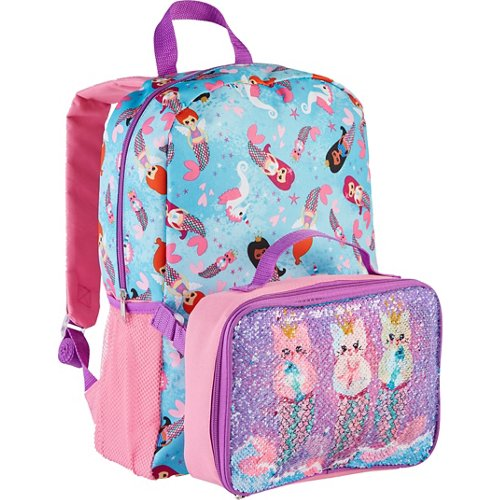 Confetti Kids' Flip Sequin Backpack with Lunch Kit