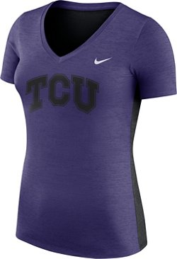 Nike Women's Texas Christian University Dri-FIT Touch V-neck T-shirt