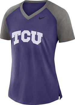 Nike Women's Texas Christian University Fan V-neck Top