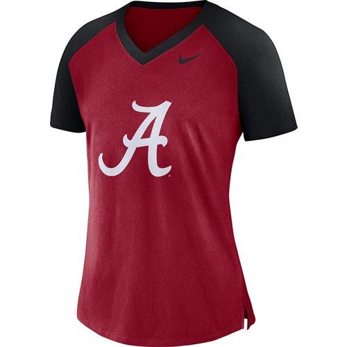 Nike Women's University of Alabama Fan V-neck Top