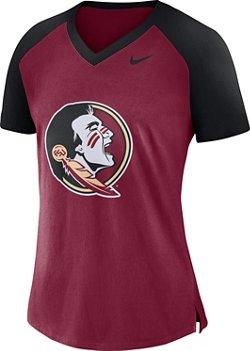 Nike Women's Florida State University Fan V-neck Top
