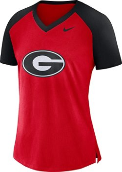 Nike Women's University of Georgia Fan V-neck Top