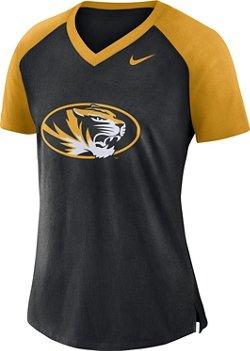 Nike Women's University of Missouri Fan V-neck Top