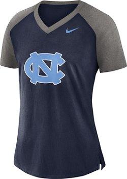 Nike Women's University of North Carolina Fan V-neck Top