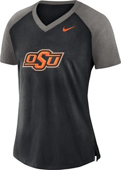 Nike Women's Oklahoma State University Fan V-neck Top