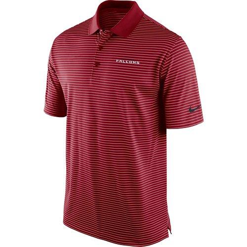 Nike Men's Atlanta Falcons Stadium Striped Perf Polo Shirt