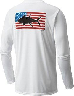 Columbia Sportswear Men's Terminal Tackle Flag Fish Long Sleeve T-shirt