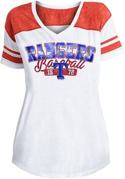 5th & Ocean Clothing Women's Texas Rangers Burnout Stripe T-shirt