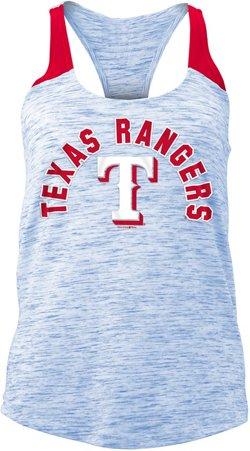 5th & Ocean Clothing Women's Texas Rangers Space Dye Tank Top