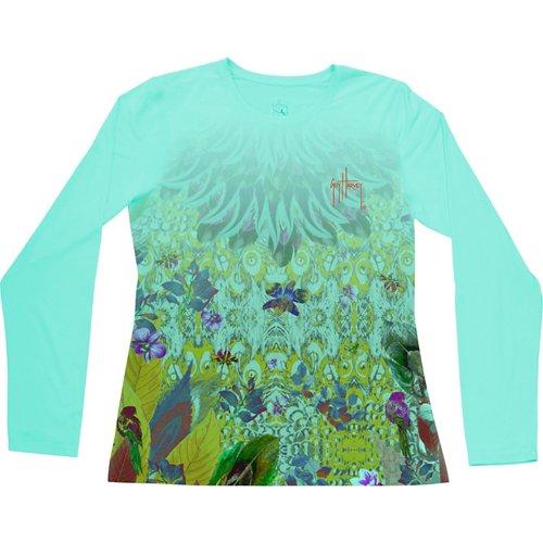 Guy Harvey Women's Bohemian Vibe Performance UVX Long Sleeve T-shirt