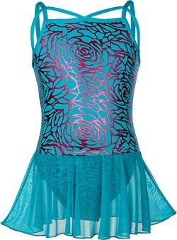 Capezio Girls' Future Star Foil Print Skirted Leotard