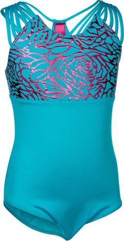 Capezio Girls' Future Star Strappy Foil-Printed Leotard