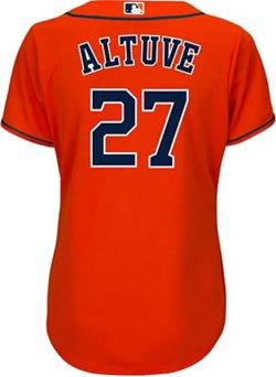 Majestic Women's Houston Astros Jose Altuve 27 COOL BASE Jersey