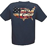 Ducks Unlimited Men's Barn Board USA Flag T-shirt