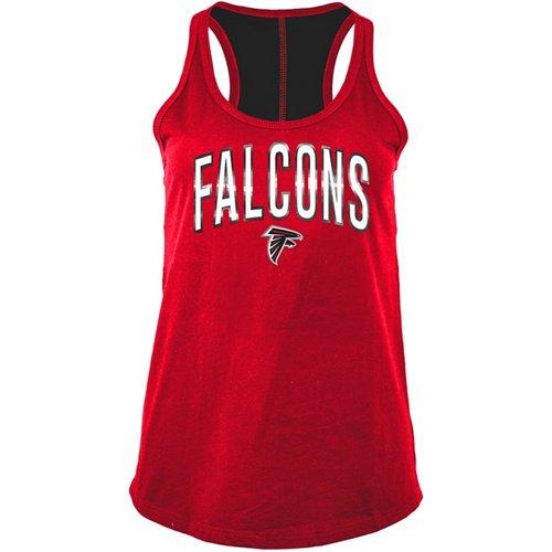 5th & Ocean Clothing Women's Atlanta Falcons Racerback Tank Top